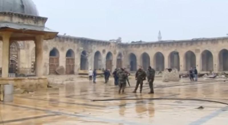 إعادة إعمار المسجد الأموي في حلب بهبة شيشانية