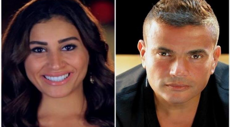 ما حقيقة زواج عمرو دياب من دينا الشربيني؟