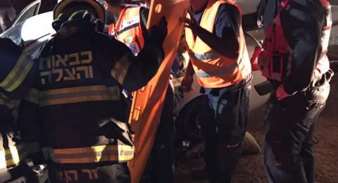 النقب: حادث طرق مروع واصابة بالغة لشخص!