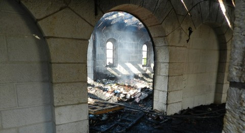 الناصرة: الحكم 4 سنوات لشاب يهودي اقدم على حرق كنيسة الطابغة