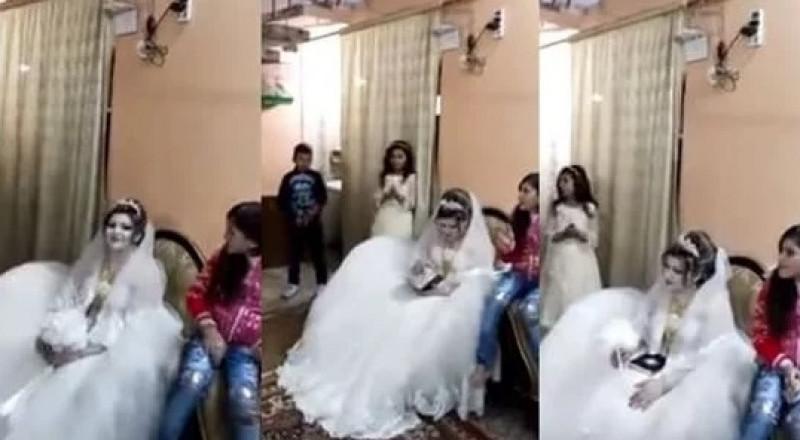 عروس تترك الاحتفال بزفافها لتقرأ القرآن الكريم