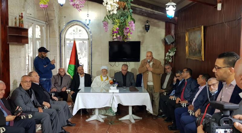 المتابعة وفعاليات القدس يدعون لمواصلة النضال ضد الاحتلال والموقف الأميركي العدواني