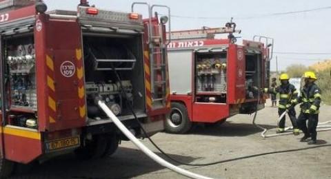 كفر قاسم: اصابة شخص واضرار جسيمة بالممتلكات جراء حريق في احد البيوت