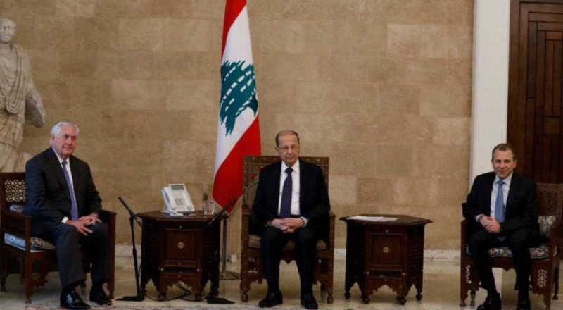 عون لتيلرسون: متمسكون بحدود لبنان ونرفض مزاعم العدو