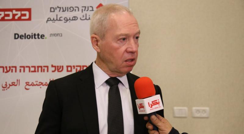 الوزير غالانت لبكرا : الخطة (922) تتبع سياسة تمييز لصالح المواطنين العرب!