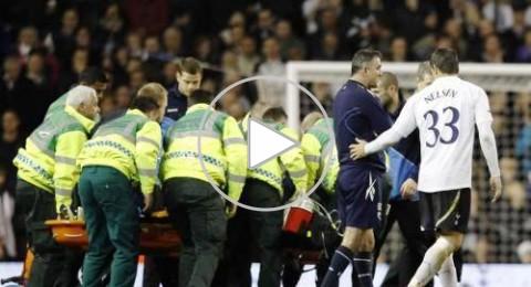 ايقاف مباراة توتنهام وبولتون بعد سقوط لاعب مغشيا عليه
