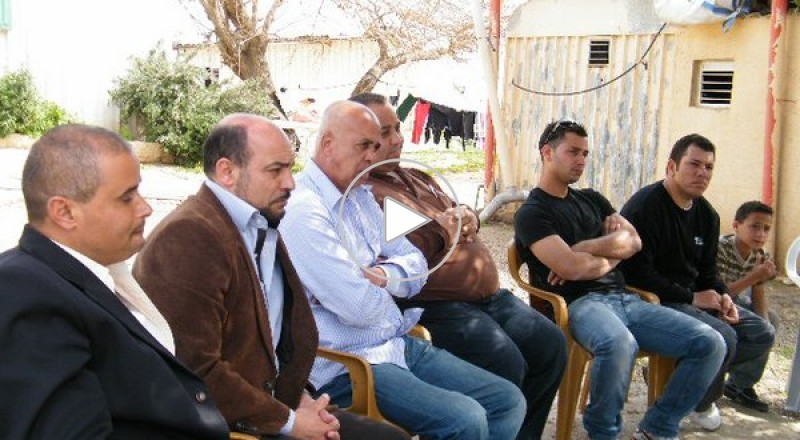 النائب مسعود غنايم يزور حي أم السحالي قرب شفاعمرو