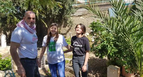 اللجنة الشعبية عرابة وشباب العودة يقومون بحملة تنظيف لضريح الشهيد خير ياسين قبيل ذكرى يوم الأرض