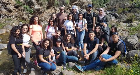 جمعية انماء في جولة مشي تثقيفة في اراضي الجولان