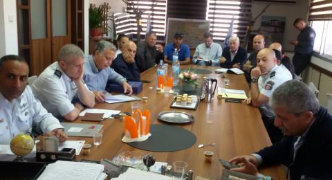 قيادة سلطة الاطفاء في زيارة للشبلي أم الغنم، والمجلس يقدم لها بعض المطالب الهامة