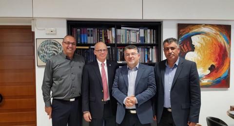 جبارين والعطاونة يلتقيان رئيس جامعة تل ابيب ويطرحان قضايا الطلاب العرب