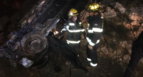 اصابة شابين بجراح خطيرة في حادث طرق قرب ابو سنان