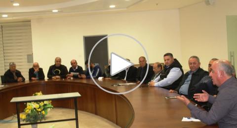 سخنين : الاتفاق على تصعيد الاجراءات لمنع مخطط تجريف شارع الشكاير