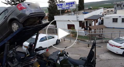 ضبط أطفال يقودون دراجات نارية وتراكتورنات في الشبلي واكسال