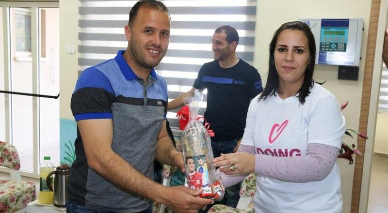 سخنين: حضانة البراعم الصغار تستقبل لاعبي اتحاد ابناء سخنين في يوم الاعمال الخيرية