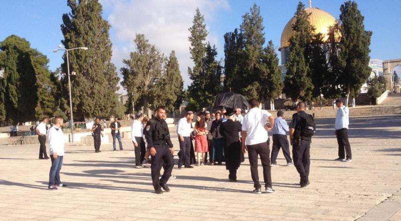 60 مستوطنًا يقتحمون الأقصى بحماية شرطة الاحتلال