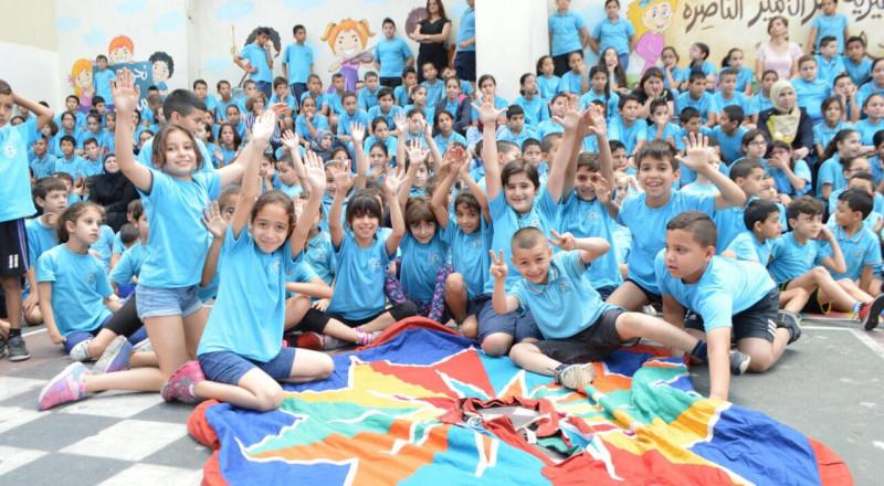 المدرسة الجماهيرية بئر الامير تستقبل عيد الفطر بأجواء بهيجة
