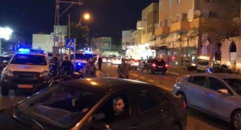 القاء زجاجة حارقة باتجاه سيارة شرطة في يافا