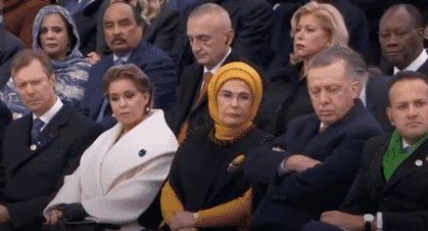 أمام زعماء العالم.. أردوغان يغط في النوم