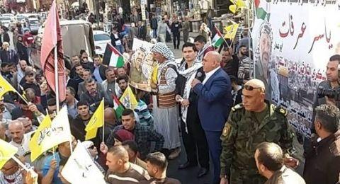 مهرجان حاشد بذكرى أبو عمار في نابلس
