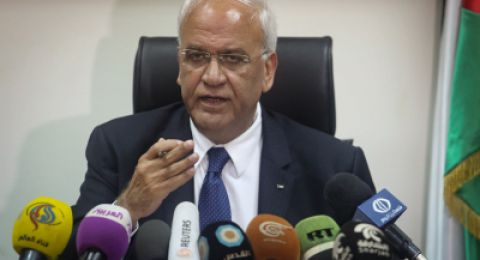 عريقات يدعو المجتمع الدولي لمنع قيام الحكومة الإسرائيلية بارتكاب مجازر جديدة في قطاع غزة