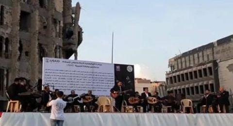 منصة إعدام داعش للمثليين في الموصل تصدح بالموسيقى
