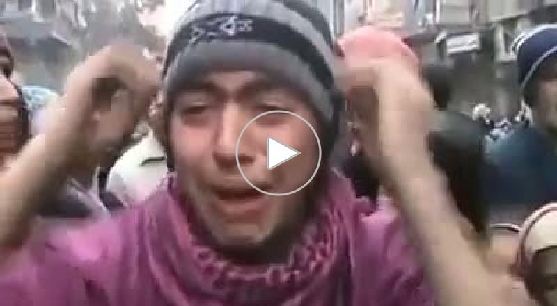 شب يبكي من الجوع مخيم اليرموك