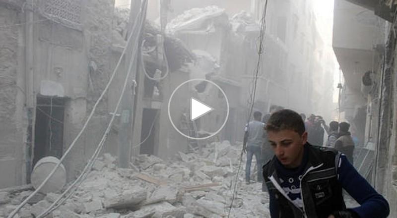 7 شهداء جراء القاء براميل متفجرة داخل مخيم اليرموك