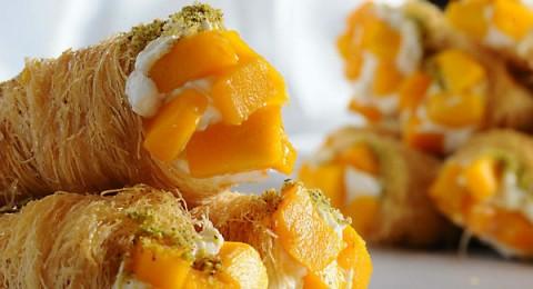 حلويات رمضان : كورنية الكنافة بالمانجو