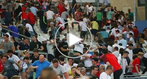 أعمال شغب وعنف من الجماهير الروسية والانجليزية عقب المباراة