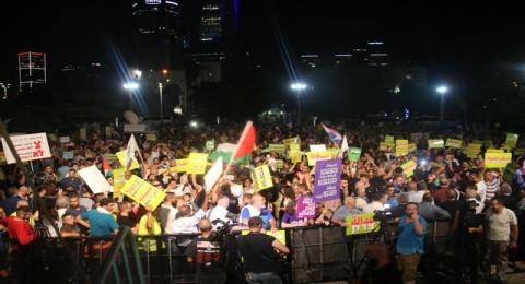 أم المظاهرات في تل ابيب ردا على قانون القومية _ رامي نصار