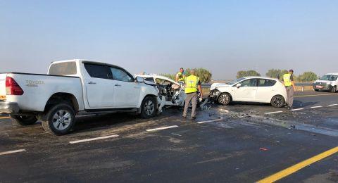 4 حوادث طرق مروعة فجر اليوم في مناطق مختلفة .. قتيلة و 9 مصابين