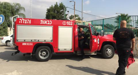 أم الغنم: تماس كهربائي يؤدي الى حريق في ملجأ مدرسة البلدة
