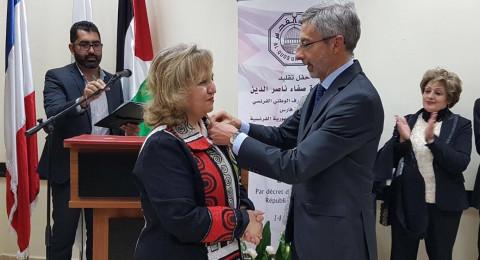القدس: منح د.صفاء ناصر الدين أعلى وسام فرنسي