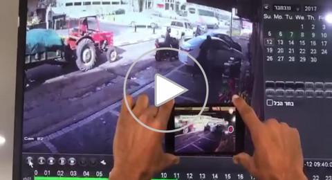 عرابة: فيديو يظهر لحظة محاولة سرقة مالك محل تصريف العملات