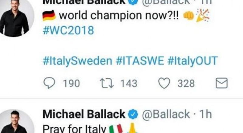 بالاك يغرّد ساخراً من ايطاليا.. ويتراجع!