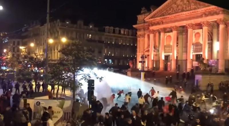 أعمال شغب في بروكسل خلال احتفالات الجالية المغربية بتأهل منتخب بلادهم