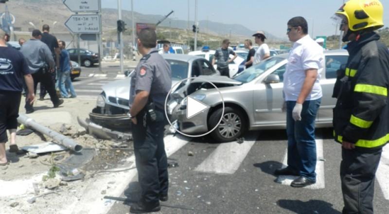 سبعة اصابات على مفرق البعنة – دير الاسد