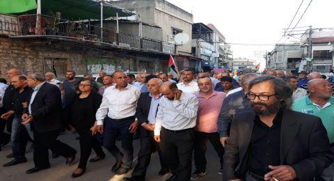 المئات في المظاهرة القطرية بمجد الكروم: العار لقتلة المتظاهرين العزّل