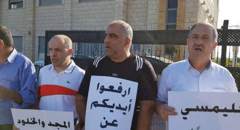 الأطر الشعبية في طرعان تنظم وقفة تضامنيّة مع إخواننا في غزة