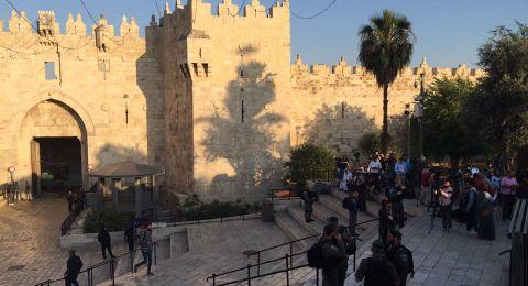 الاحتلال يقمع وقفة أمام باب العامود في ذكرى النكبة