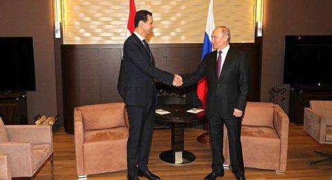 بوتين يلتقي الأسد ويشدد على ضرورة إخراج القوات الأجنبية من سوريا