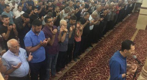 تراويح أول أيام رمضان بجامع عمر المختار يافة الناصرة