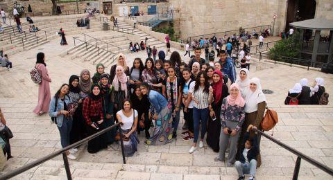 زيارة المسجد الأقصى المبارك ومستشفى المقاصد ومؤسسة الأميرة بسمة لذوي الإحتياجات الخاصة في القدس