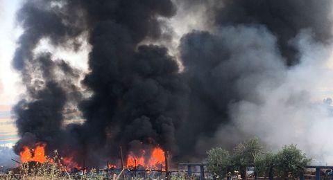 دبورية: اندلاع حريق هائل