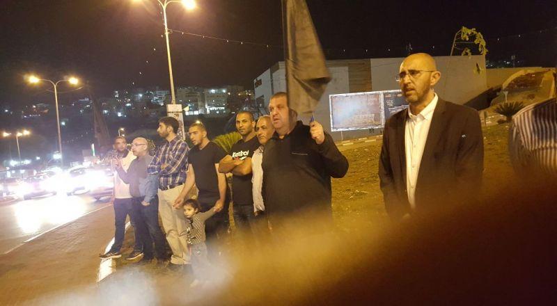 ام الفحم: وقفة احتجاجية تنديداً بمجزرة غزة