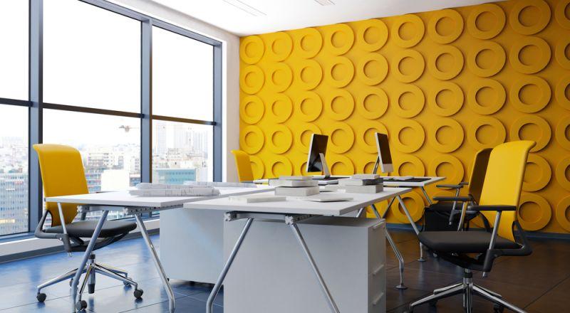 ديكورات محفزة على الإنتاجية في غرفة المكتب