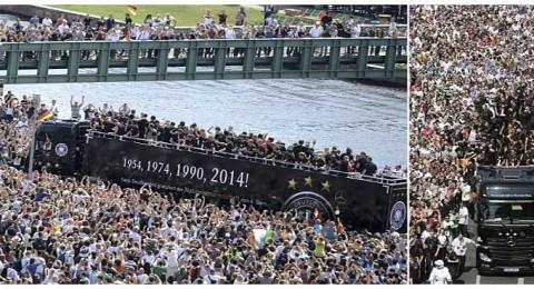 نصف مليون ألماني في استقبال أبطال العالم في برلين