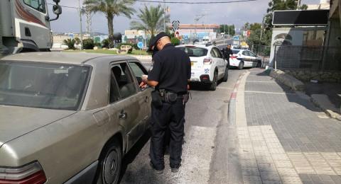 الشرطة في حملة مرورية في عسفيا والدالية