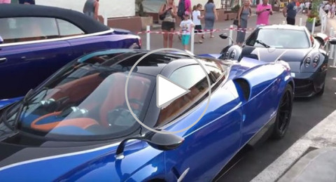 ثري سعودي يستعرض أسطول سياراته في شارع بفرنسا
